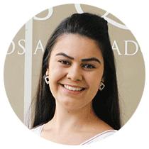 Mayra Lisboa secretaria da Belasque Advocacia.